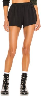 Flowy Knit Shorts in Black. - size L (also in M, S, XS)