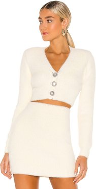 Grace Sweater in Ivory. - size M (also in S, XS)