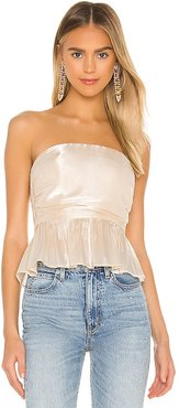 Camden Strapless Top in Ivory. - size L (also in S, XL, XS)