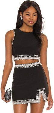 Jo Embellished Top in Black. - size L (also in M, S, XL, XS)