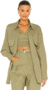 Calista Shacket in Green. - size 2 (also in 4, 6, 8)