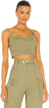Ana Crop Bustier in Green. - size 0 (also in 2, 4, 6, 8)