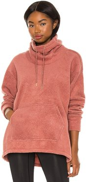 Thermal Cozy Cowl Sweater in Coral. - size L (also in M, XS)