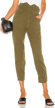 Aston Pant in Army. - size 4 (also in 6)