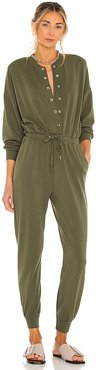 Dixie Baseball Jumpsuit in Army. - size L (also in M, S, XS)
