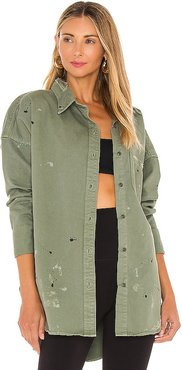 Lewis Oversize Button Up in Green. - size S (also in XS)