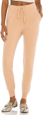 X REVOLVE Rikki Cashmere Jogger in Tan. - size L (also in M, S, XS)