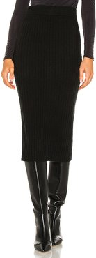 Gunnar Ribbed Skirt in Black. - size M (also in S, XS)
