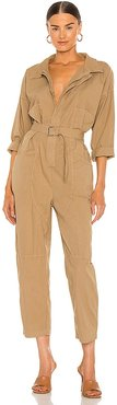 Maple Jumpsuit in Tan. - size M (also in S, XS)