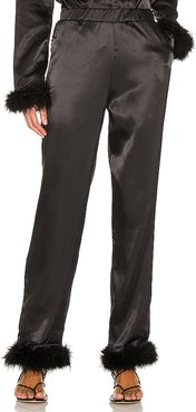 Sky Feather Pant in Black. - size L (also in M, S, XS)