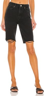 Robbie High Rise Short in Black. - size 23 (also in 24, 25, 26, 27, 28, 29, 30)