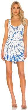 Tie Dye Tank Dress in Blue. - size L (also in S, XS)