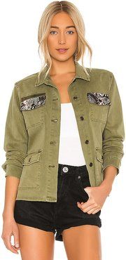 Army Jacket in Army. - size L (also in M, S, XS)