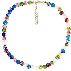 Beaded Necklace in Blue.