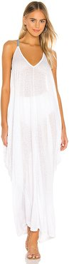 Grecian Dress in White. - size M/L (also in XS/S)
