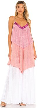 Three Tiered Maxi Dress in Pink. - size M/L (also in XS/S)