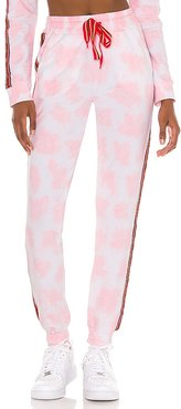 Tie Dye Trackie in Pink. - size L (also in M, S)