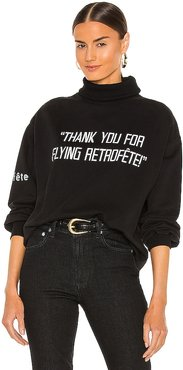 Flying Over Sweatshirt in Black. - size L (also in M, S, XS)
