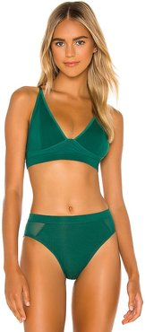 High Cut Bralette in Green. - size S (also in XS)