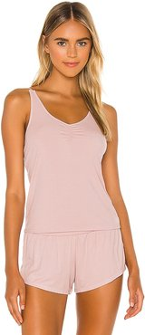 Sleep Tank in Mauve. - size L (also in M, S, XL, XS)