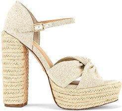 Knotted Platform Sandal in Nude. - size 10 (also in 6.5, 7, 7.5, 9)