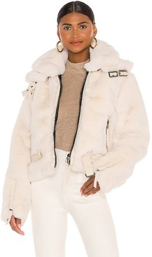 Faux Fur Penelope Jacket in White. - size M (also in S)