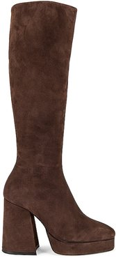 Colira Knee High Boot in Brown. - size 10 (also in 5, 7.5, 9.5)