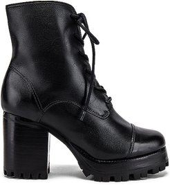 Lace Up Boot in Black. - size 10 (also in 6, 6.5, 7, 7.5, 8, 8.5, 9, 9.5)