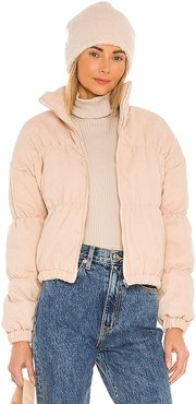 Kain Bomber Jacket in Nude. - size L (also in M, S, XS)