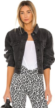 Lounge Laurent Denim Jacket in Black. - size L (also in M, S, XS)