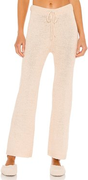 Lounge Celeste Knit Pant in Nude. - size L (also in M, S, XS)