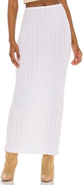 Lounge Baha Ribbed Skirt in White. - size L (also in M, S, XS)
