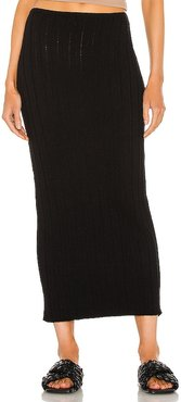 Lounge Baha Ribbed Skirt in Black. - size L (also in M, S, XS)