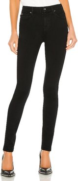 The High Waist Skinny in Black. - size 25 (also in 26, 27, 28, 29)
