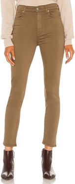 The High Waist Ankle Skinny in Olive. - size 24 (also in 25, 26, 27, 28, 30, 31)