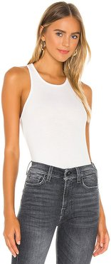 Racer Back Tank in White. - size L (also in M, XS)