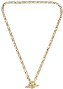 Patron Pave Necklace in Metallic Gold.