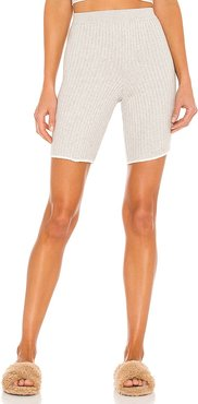 Macey Cotton Cashmere Bike Short in Grey. - size L (also in M, S, XS)