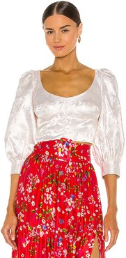 Jodie Blouse in Ivory. - size 0 (also in 10, 2, 4, 6, 8)