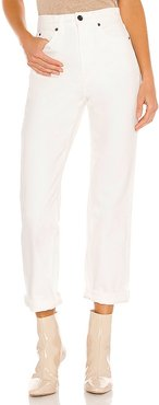 Dakota High Rise Relaxed Tapered in White. - size 24 (also in 26, 27, 28, 30)