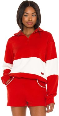 Pullover in Red. - size L (also in M, S, XS)