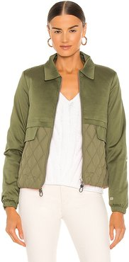 Lori Jacket in Green. - size L (also in M, S, XS)