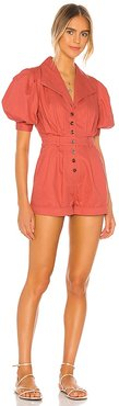 Cameron Romper in Red. - size L (also in M, S, XL)