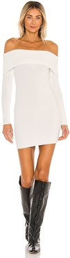 Tallie Off Shoulder Dress in Ivory. - size L (also in M, S, XS)