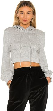 Christine Crop Hoodie in Grey. - size M (also in S, XS)