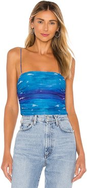 Lissie Shirred Cami Top in Blue. - size L (also in M, S, XL, XS, XXS)