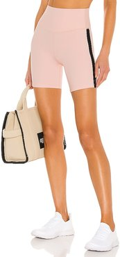Loulou High Waist Airweight Short in Blush. - size L (also in M, S, XS)