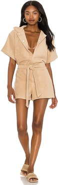 Romper in Tan. - size L (also in M, S, XS)