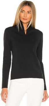 Zip Up Turtleneck in Black. - size M (also in S, XS)
