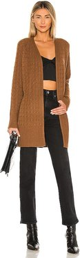 Malinka Cable Cardigan in Brown. - size L (also in M, S, XS)